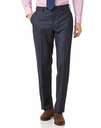Airforce blue classic fit flannel business suit pants