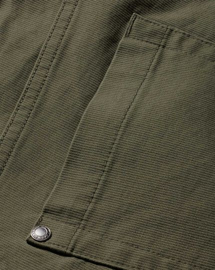 Olive slim fit 5 pocket Bedford corduroy pants