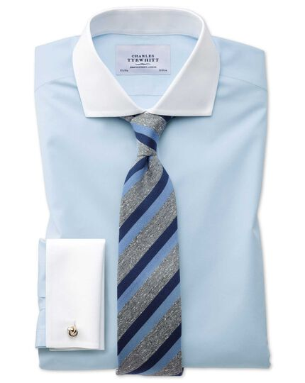 Extra slim fit spread collar non-iron Winchester sky blue shirt