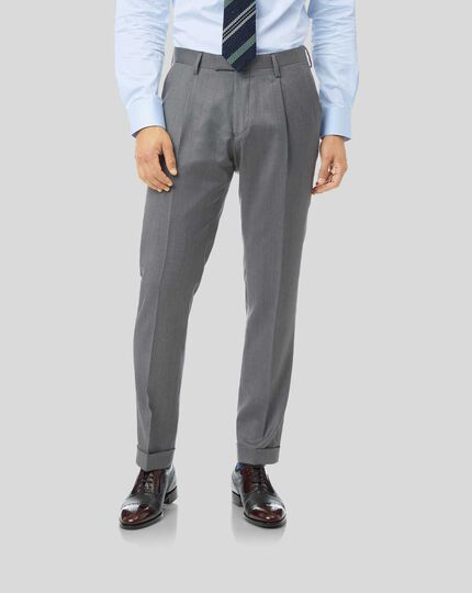 Luxury Suit Pants - Light Grey