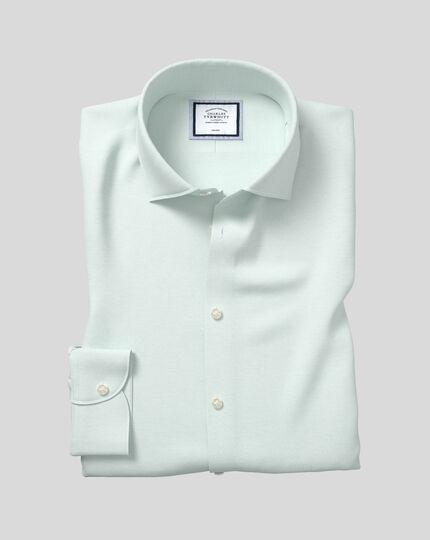 Mint CHARLES TYRWHITT Slim Fit Non Iron Cotton Blue Dress Shirt 16-34