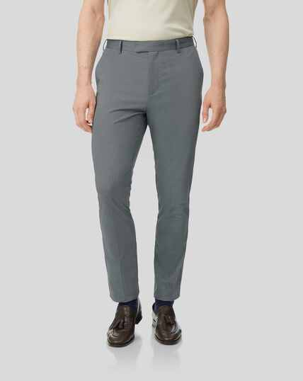 Non-Iron Stretch Trousers - Grey