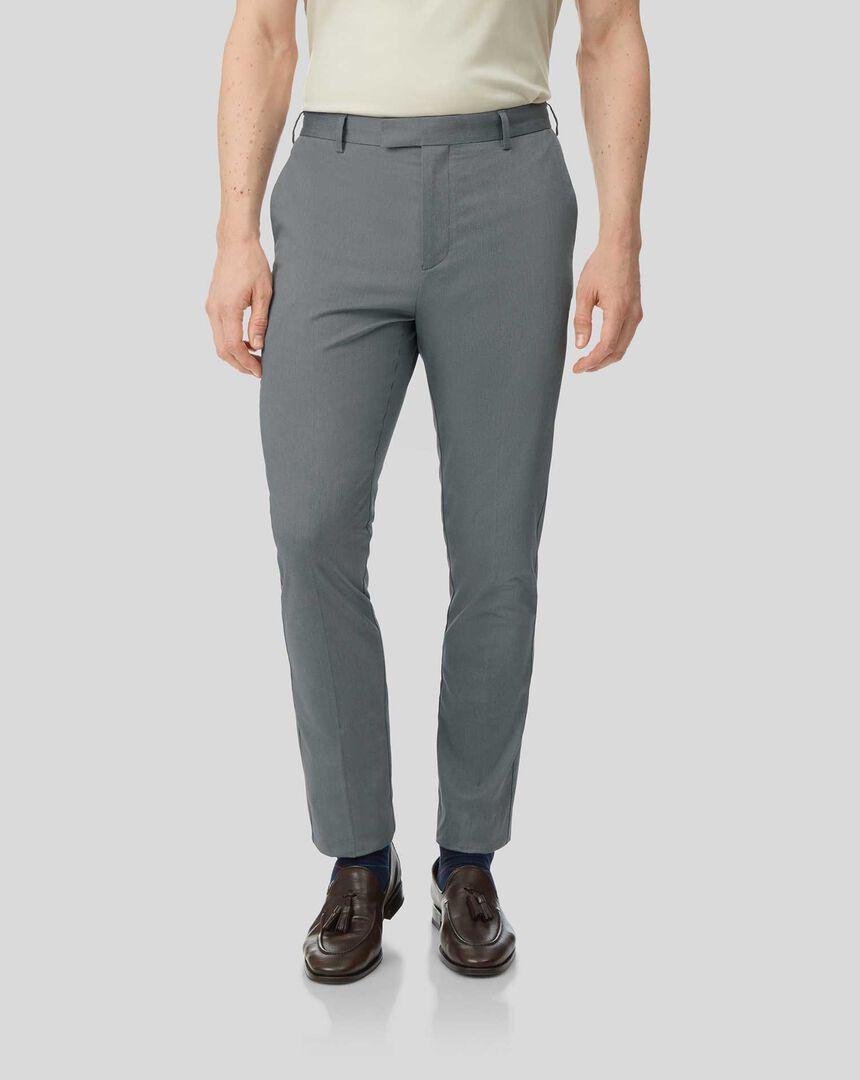 Non-Iron Stretch Pants - Navy