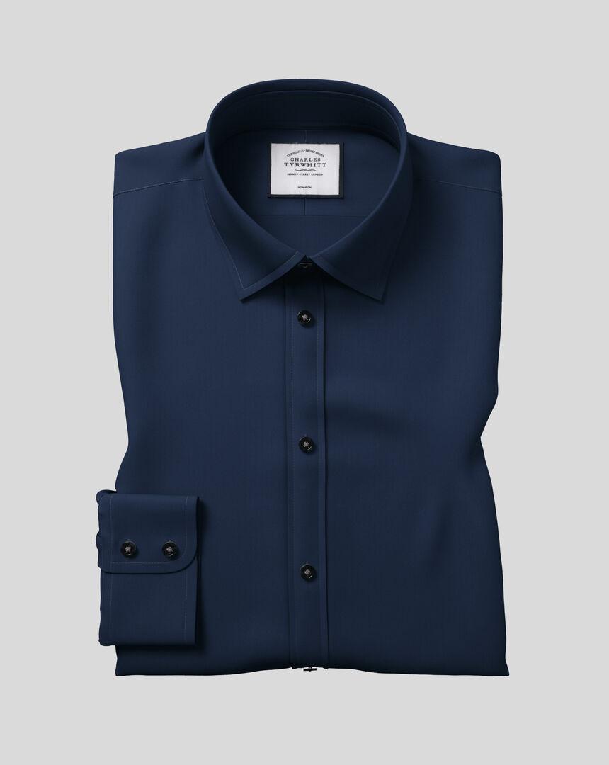 Classic Collar Non-Iron Twill Shirt  - Navy