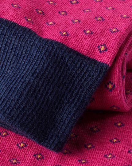 Geo Patterned Socks - Pink