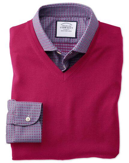 Dark pink merino sweater vest