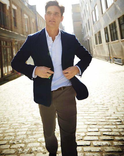 Slim fit sky blue washed Oxford shirt