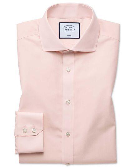 Classic fit non-iron Tyrwhitt Cool poplin peach shirt