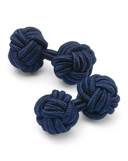 Navy knot cufflinks
