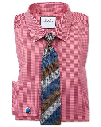 Klassische Krawatte aus Seidenleinen mit Streifen in Marineblau und Braun