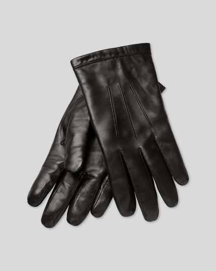 Gants en cuir - Noir