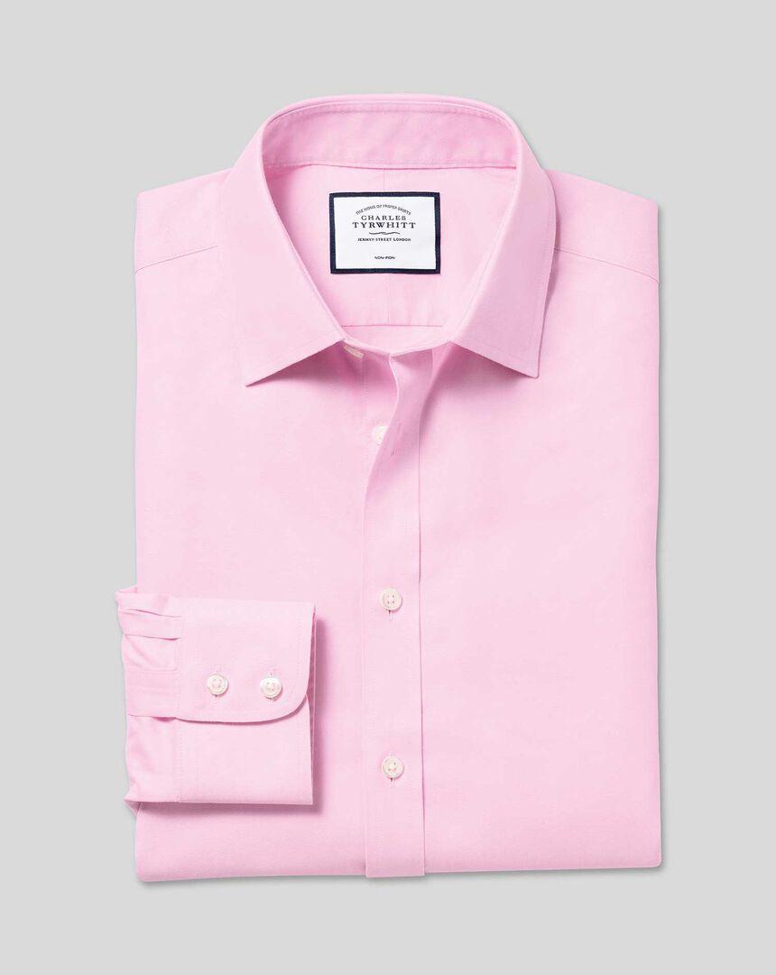 Classic Collar Non-Iron Twill Shirt  - Pink