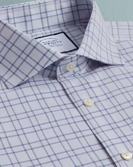 Textured Check Shirt - Grey