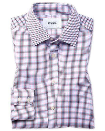Classic fit non-iron grid check multi shirt