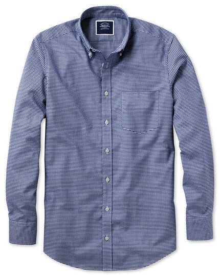 Classic fit royal gingham soft washed non-iron stretch shirt