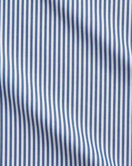 Classic fit Bengal stripe navy blue shirt