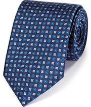 Klassische Krawatte aus Seide mit Muster in Blau