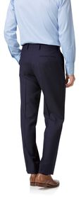Navy twill classic fit business suit