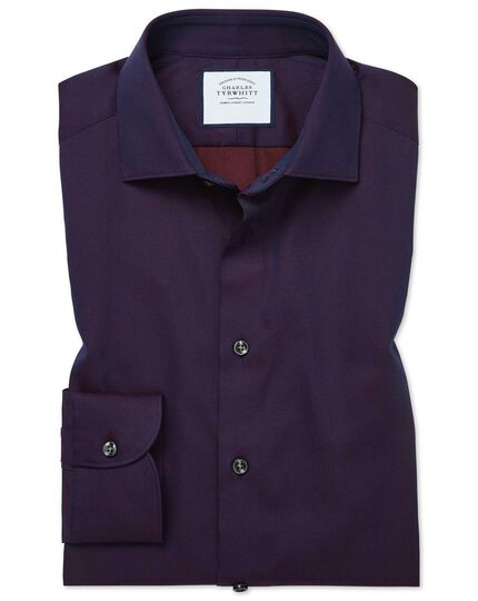Classic fit micro diamond purple shirt