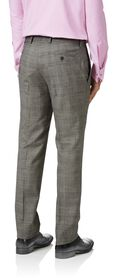 Grey slim fit Panama Prince of Wales business suit