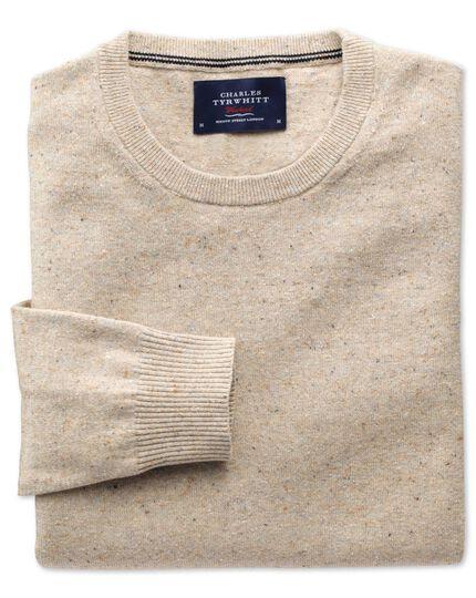 Stone cotton cashmere crew neck jumper
