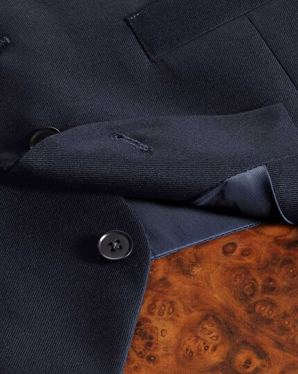 Navy adjustable fit twill business suit waistcoat