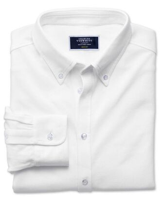 Chemise Oxford blanche en jersey