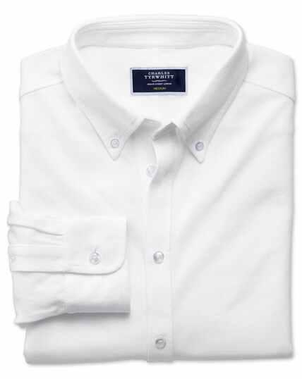 White Oxford jersey shirt