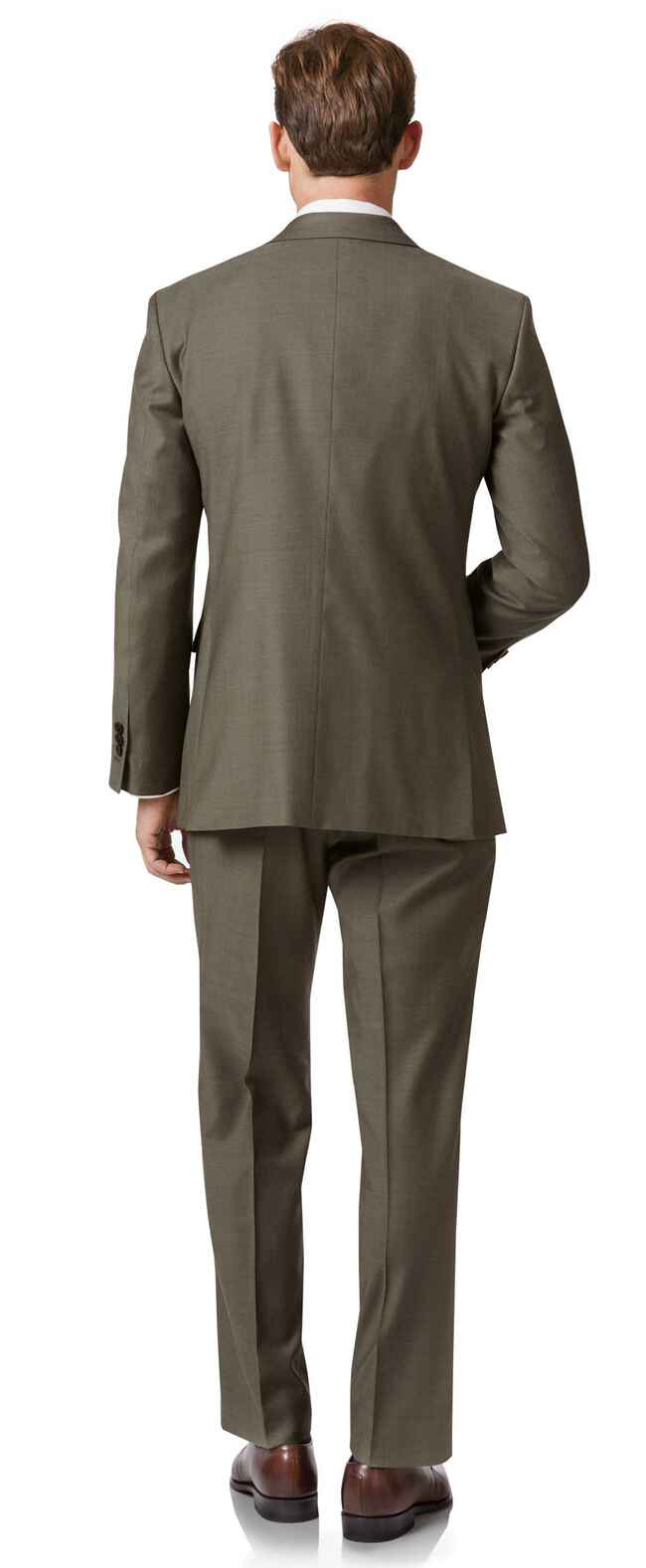 Businessanzug Classic Fit Twill in Olive