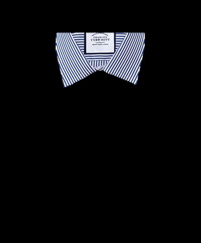 Slim Fit Hemd in Marineblau mit Bengal-Streifen