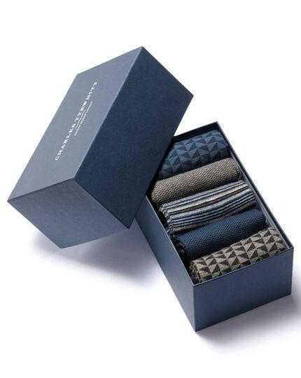 Blue sock gift box