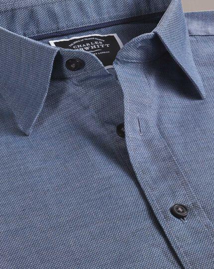 Classic Fit Hemd mit weicher Struktur in Blau