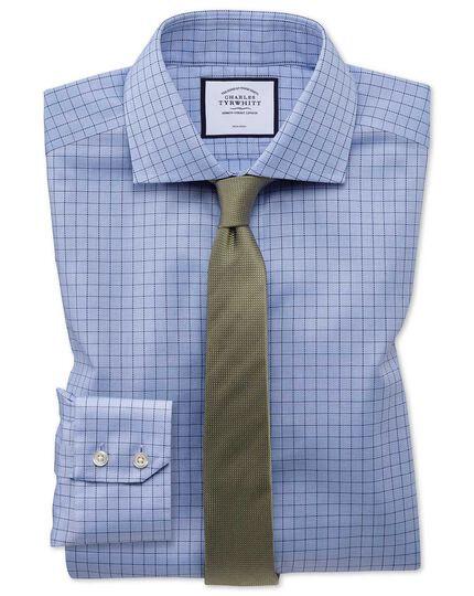 Oxfordhemd Extra Slim Fit Bügelfrei Stretch-Baumwolle in Blau