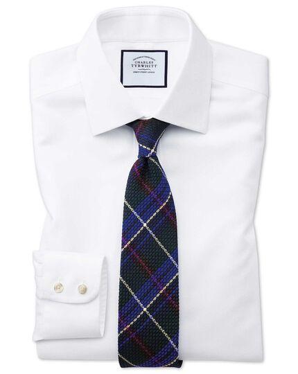 Classic fit non-iron white arrow weave shirt