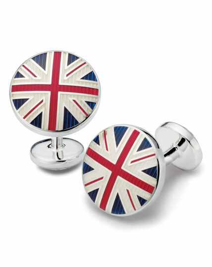 Union jack round cufflinks