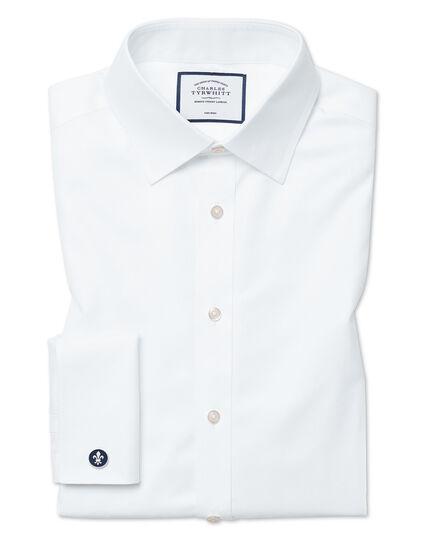 Slim fit non-iron twill white shirt