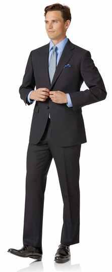 Charcoal birdseye classic fit travel suit