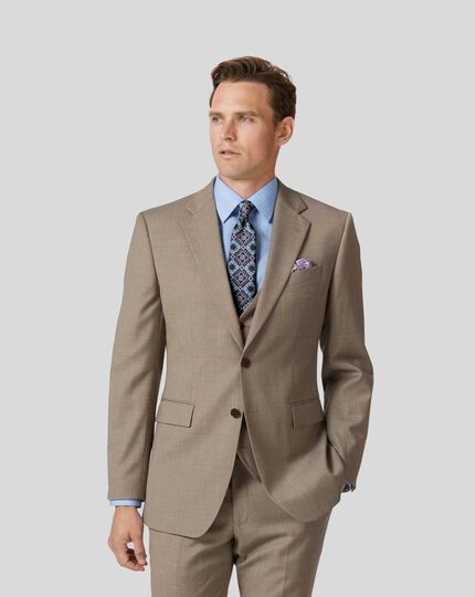 Twill Business Suit Jacket - Fawn