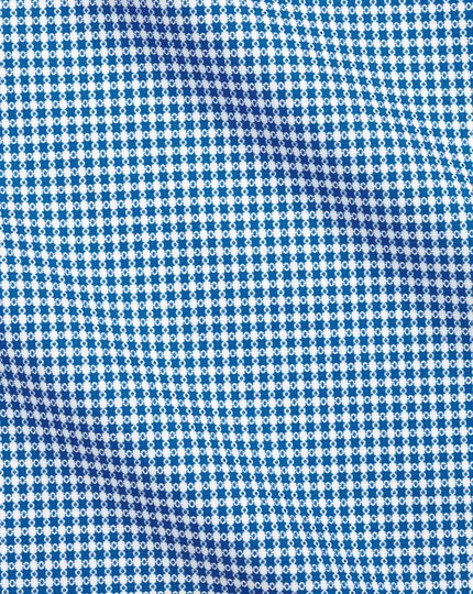 Semi-Spread Business Casual Non-Iron Modern Textures Shirt Spot  - Blue And White