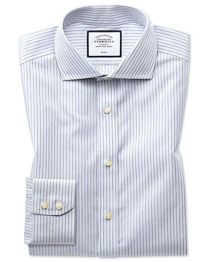 Non-Iron Shadow Stripe Shirt - Grey