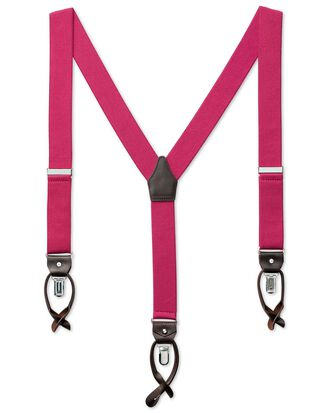 Pink combination suspenders