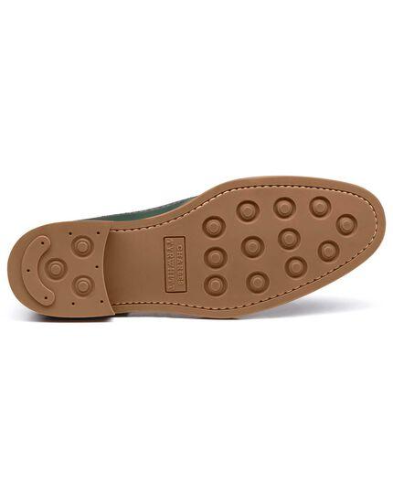 Green Lanescot brogue wing tip Derby shoe