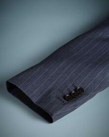 Airforce blue stripe slim fit Panama business suit