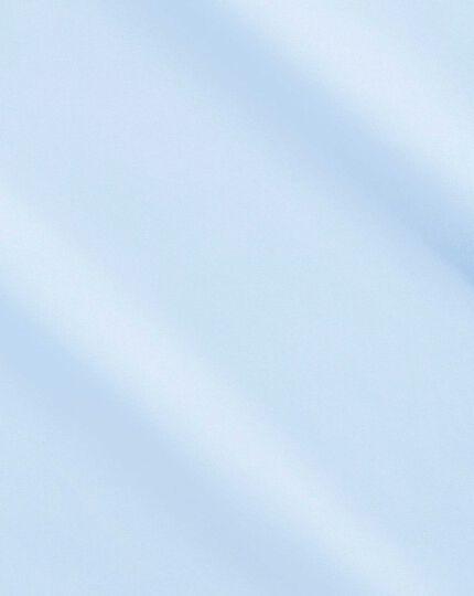 Slim fit sky blue non-iron poplin shirt