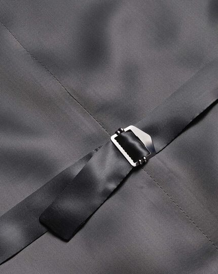 Silver adjustable fit Italian luxury suit vest