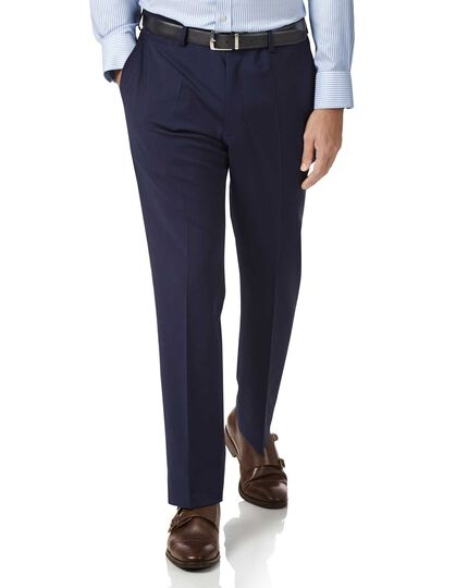 Royal blue slim fit performance suit trousers