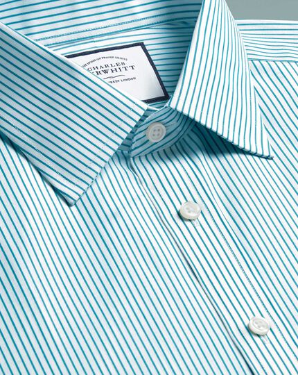 Non-Iron Stripe Shirt - Green