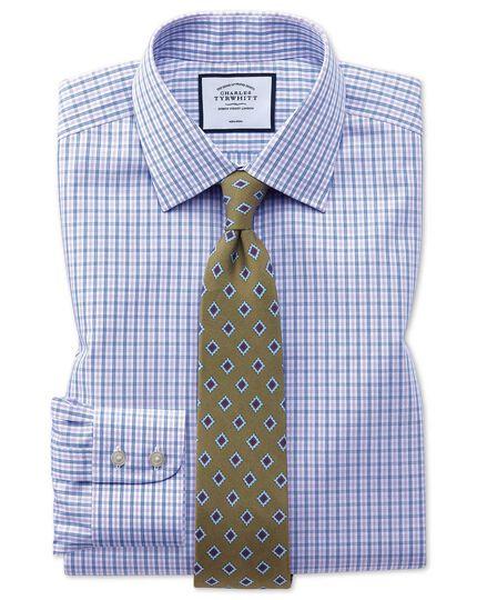 Non-Iron Check Shirt - Blue And Purple Check