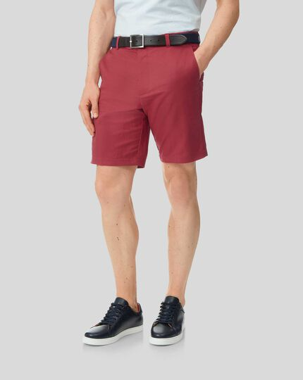Linen Cotton Shorts - Red