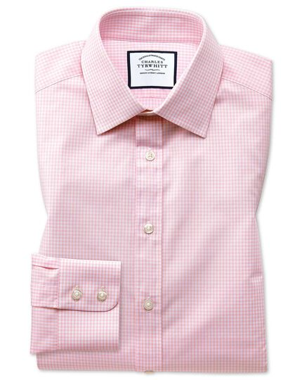 Small Gingham Shirt - Light Pink
